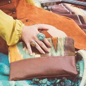 Grace Design IKat Aztec Tribal Clutch Handbag Bag